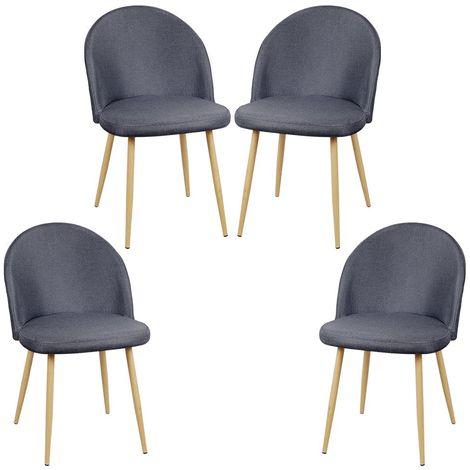 Lot de 4 Chaises en Tissu Style Scandinave 50×50×76cm