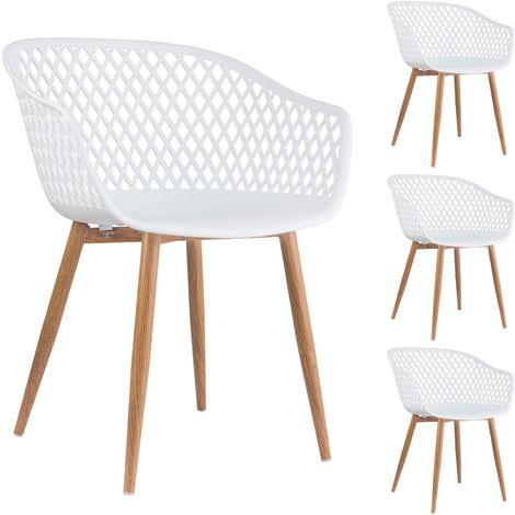 Chaise Plastique Blanc Noir à CouleurC Rétro Gris Salle OX0wPk8n