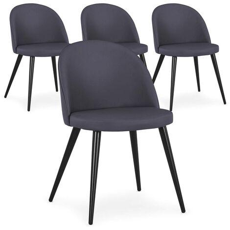 Lot de 4 chaises Maury Simili P.U. Gris - Gris