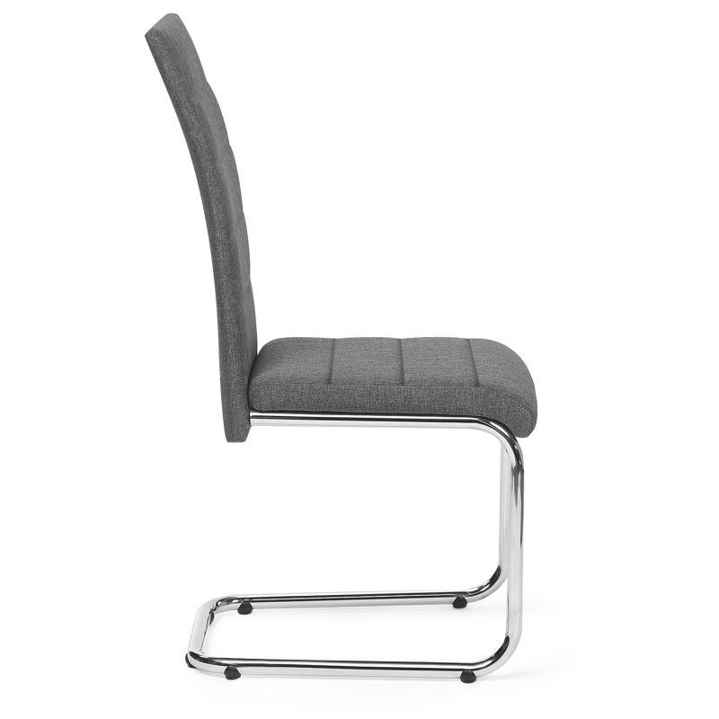 Lot de 4 chaises MIA en tissu gris anthracite pour salle à manger