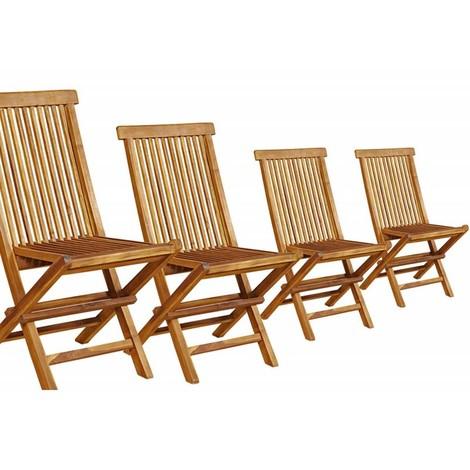 en lot pliantes 553 huilé chaises de 4 teck clT1JFK3
