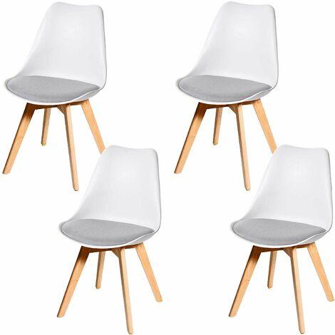 Lot 4 chaises scandinave à prix mini | Soldes jusqu'au 11