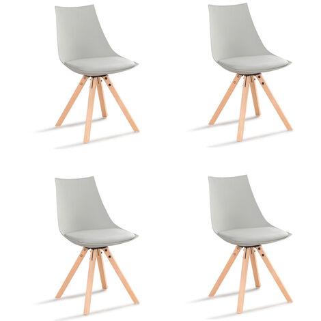 Lot de 4 chaises scandinaves blanches - Minsk - Designetsamaison - Blanc