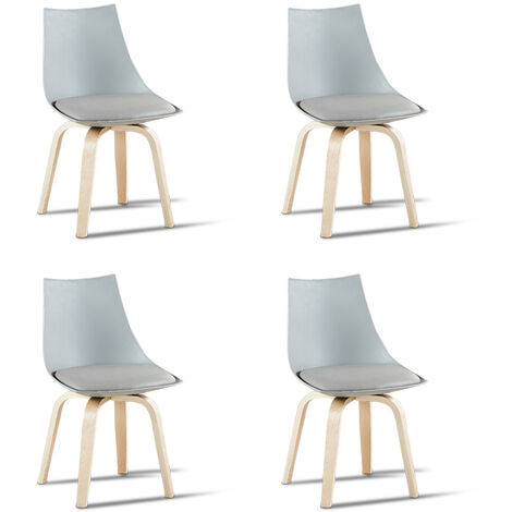 Lot de 4 chaises scandinaves blanches - Nicosie - Designetsamaison - Blanc