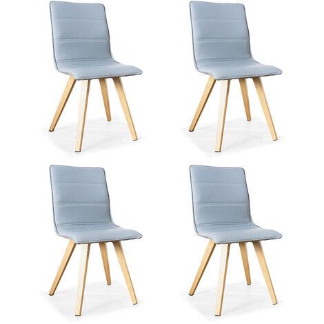 Lot de 4 chaises scandinaves grises - Conti - Designetsamaison - Gris