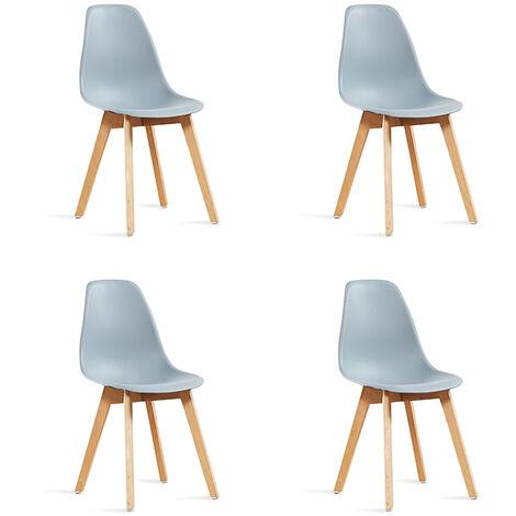 Lot de 4 chaises scandinaves grises - Onir - Designetsamaison - Gris