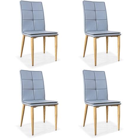 Lot de 4 chaises scandinaves grises - Pietro - Designetsamaison - Gris