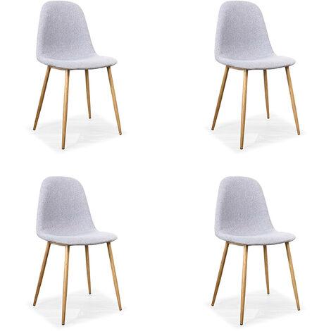 Lot de 4 chaises scandinaves grises - Romano - Designetsamaison - Gris