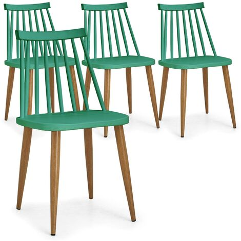 Lot de 4 chaises scandinaves Houlgate Blanc - Blanc