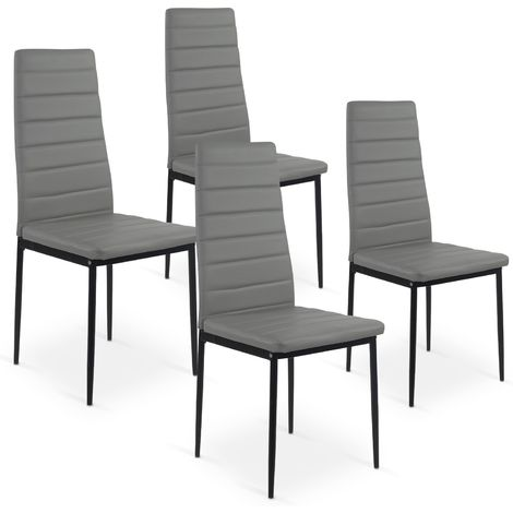 Lot de 4 chaises Strip Gris MLM112157 Gris