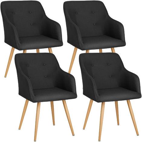 Lot de 4 chaises style scandinave TANJA - chaise scandinave, fauteuil scandinave, chaise vintage