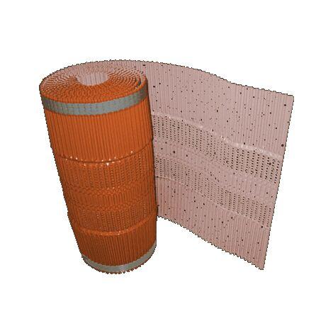 Lot de 4 : Closoir souple ventilé aluminium rouge largeur 400, en 5m
