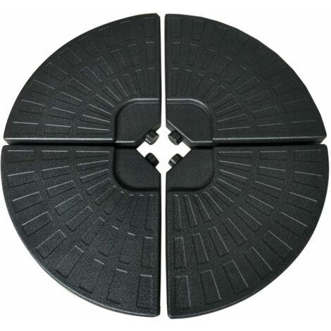 """main image of """"Lot de 4 dalles rondes SAINT MALO - Noir"""""""