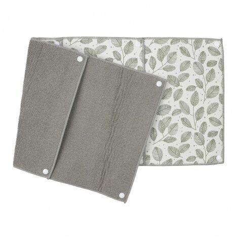Lot de 4 essuie-tout réutilisables en coton - L 28 cm