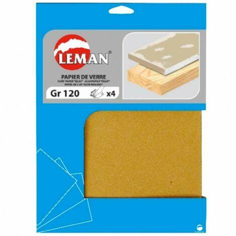 """main image of """"Lot de 4 feuilles de papier de verre 60 grammes 230 x 280 mm"""""""