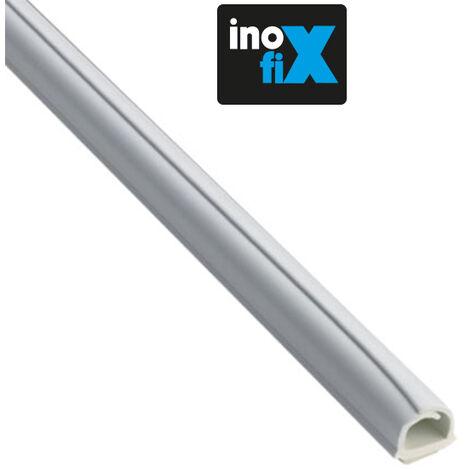 Lot de 4 gaines adhésives Cablefix 8 x 7 mm blanc - Inofix