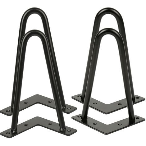 Lot de 4 pieds épingle 20 cm pour table design industriel