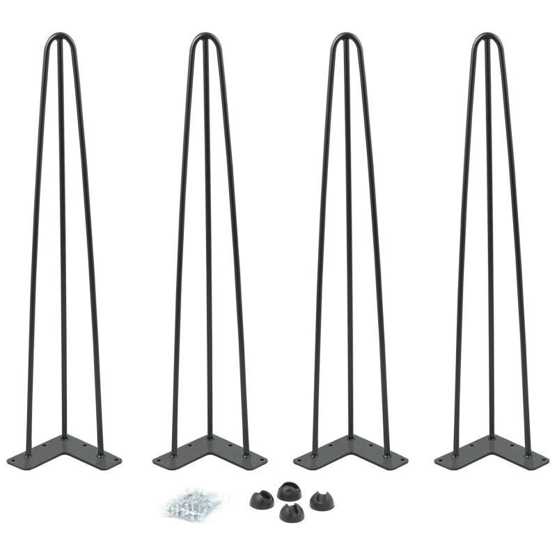 Lot De 4 Pieds Epingle 71 Cm Pour Table Design Industriel 13328