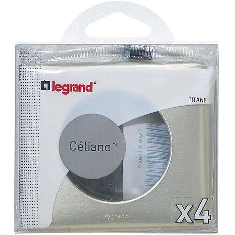 """main image of """"Lot de 4 plaques Céliane - Titane"""""""