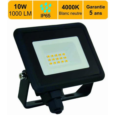 LOT DE 4 PROJECTEURS LED 10W (EQUIV. 60W) 650 LM BLANC NEUTRE (4000K) IP65