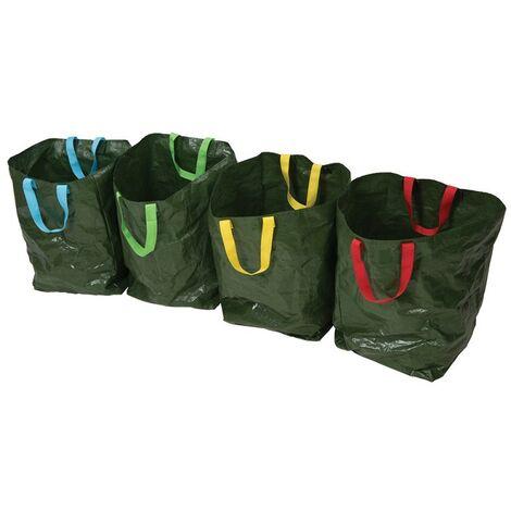 Lot de 4 sacs de tri sélectif - 400 x 320 x 320 mm