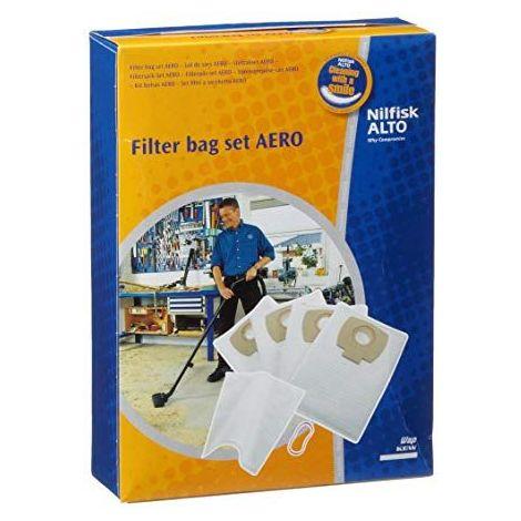 Lot de 4 sacs + filtre à eau pour aspirateur Nilfisk