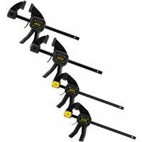 Lot de 4 Serre-joint L 300mm et M 150 FatMax STANLEY