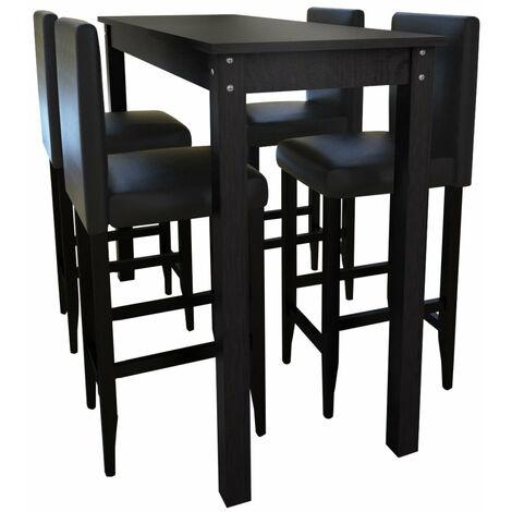 Lot de 4 tabourets de bar avec table haute - 1202004