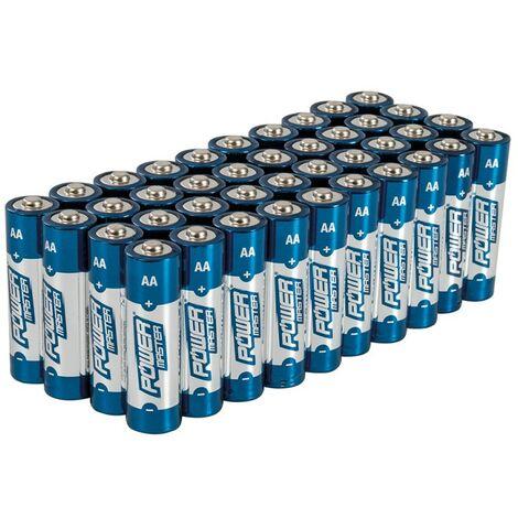 Lot de 40 Piles alcalines Super LR6 type AA - Lot de 40
