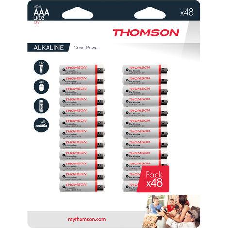 Lot de 48 piles AAA LR03 - Thomson