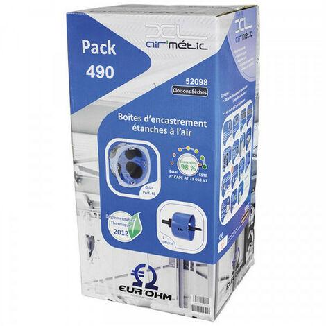 Lot de 490 boîtes d'encastrement XL AIR'métic - 1 Poste - Diam. 67 mm x Profondeur 40 mm