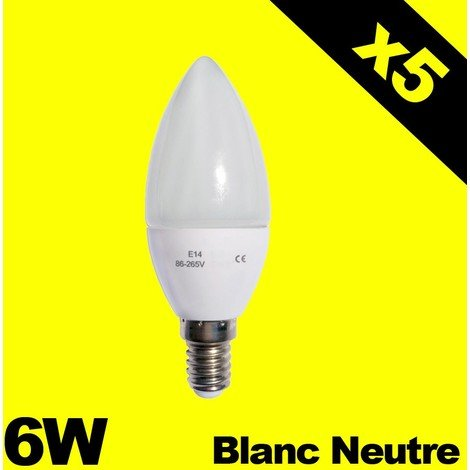 Haute Led 6w Ampoules Luminosité 5 4500k De Flamme 220v E14 Lot rBsQdCxth