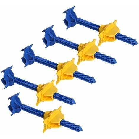 Lot de 5 appuis intermédiaire sécable Semin - fixation réglable pour le doublage des murs sur ossatures - 180 mm - boite de 50