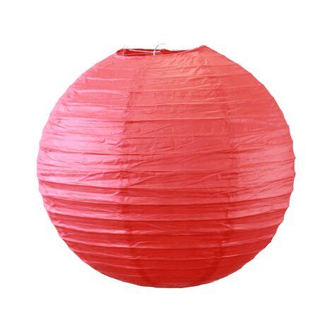 Lot de 5 Boules Papier Rouge 30 cm - Boule Japonaise Rouge - Idéal pour décoration de mariage, baptême, garden-party