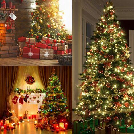Lot de 5 Brillant Guirlandes Décoration pour Arbres de noël 2m Longue Christmas de Mariage Anniversaire Fête - Multicolore