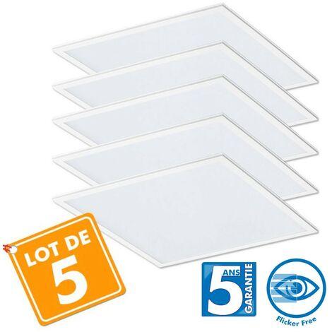Lot de 5 Dalles LED Pro 40W - 5ans 60x60cm