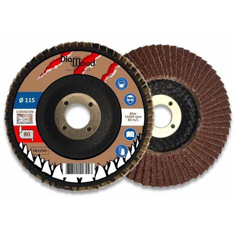 """main image of """"Lot de 5 disques lamelles bombés corindon D. 115 x Al. 22,23 x Gr. 80 - Métal, bois - Diamwood"""""""