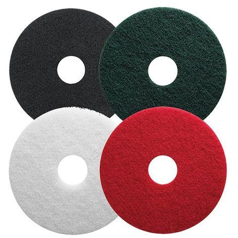 Lot de 5 disques PAD pour nettoyage des sols - vert pour récurage - D. 432 mm - 5243002 - Leman