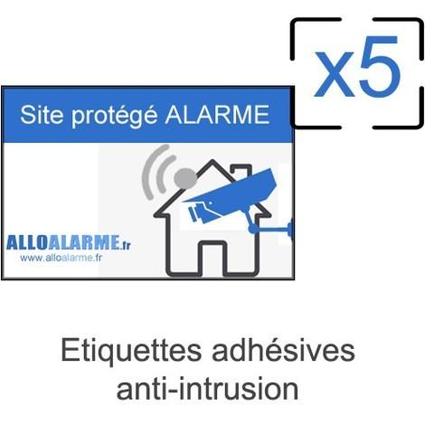 Lot de 5 étiquettes adhésives anti-intrusion