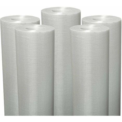Lot de 5 Fiss Renov tissu en fibre de verre Semin - évite les fissures et renforce les supports - rouleau de 50 x 1 m