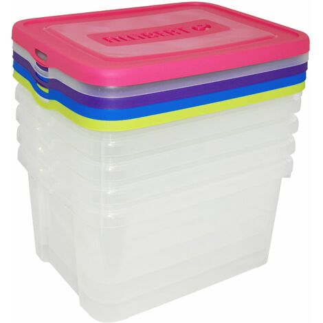 "main image of ""Lot de 5 handy box - 25L - Assortis"""