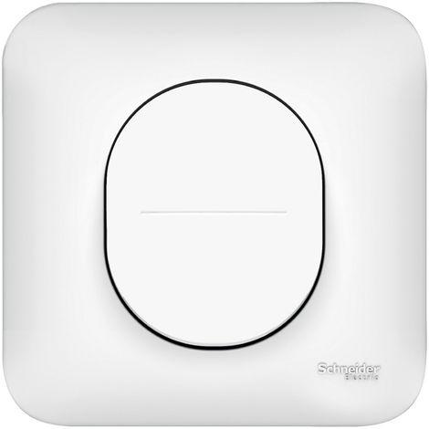 Lot de 5 interrupteurs va-et-vient Ovalis - 10A - Connexion automatique - Blanc