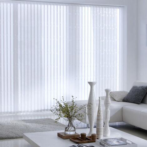 Lot de 5 Lamelles verticales Perforées Tamisantes pour Store californien - Blanc - L8,9 x 280cm - Blanc