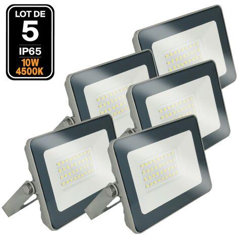 Lot de 5 Projecteur LED 10W ProLine 4500K Haute Luminosité