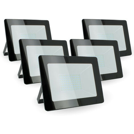 Lot de 5 Projecteurs 100w Forte luminosité 8500 Lumens de IP65