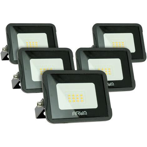 Lot de 5 projecteurs LED 10W IP65 extérieur