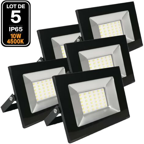 Lot de 5 Projecteurs Led 10W Ipad 4500k Haute Luminosité