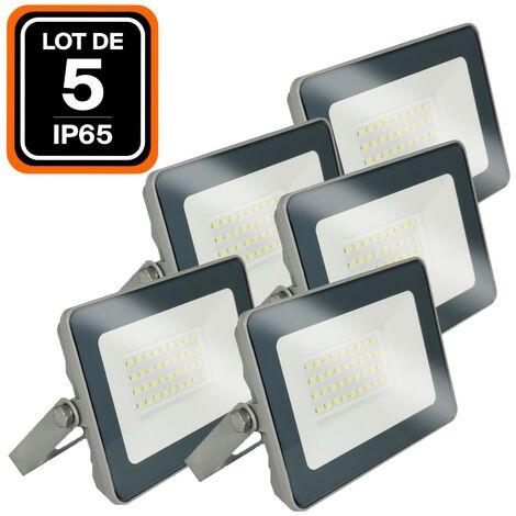 Lot de 5 Projecteurs LED 20W ProLine Blanc neutre 4500K Haute Luminosité