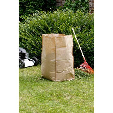 """Lot de 5 sacs à déchets verts """"Paper Bag"""" - 180 L"""