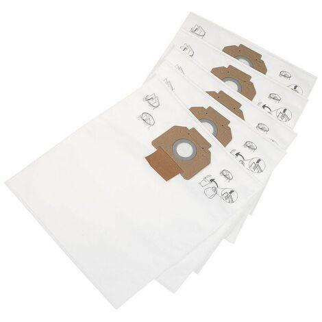 302004000 5x Sac-filtre tissus pour aspirateur Nilfisk Attix